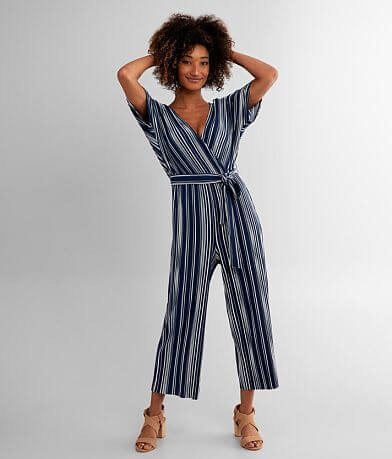 Daytrip Ribbed Surplice Jumpsuit