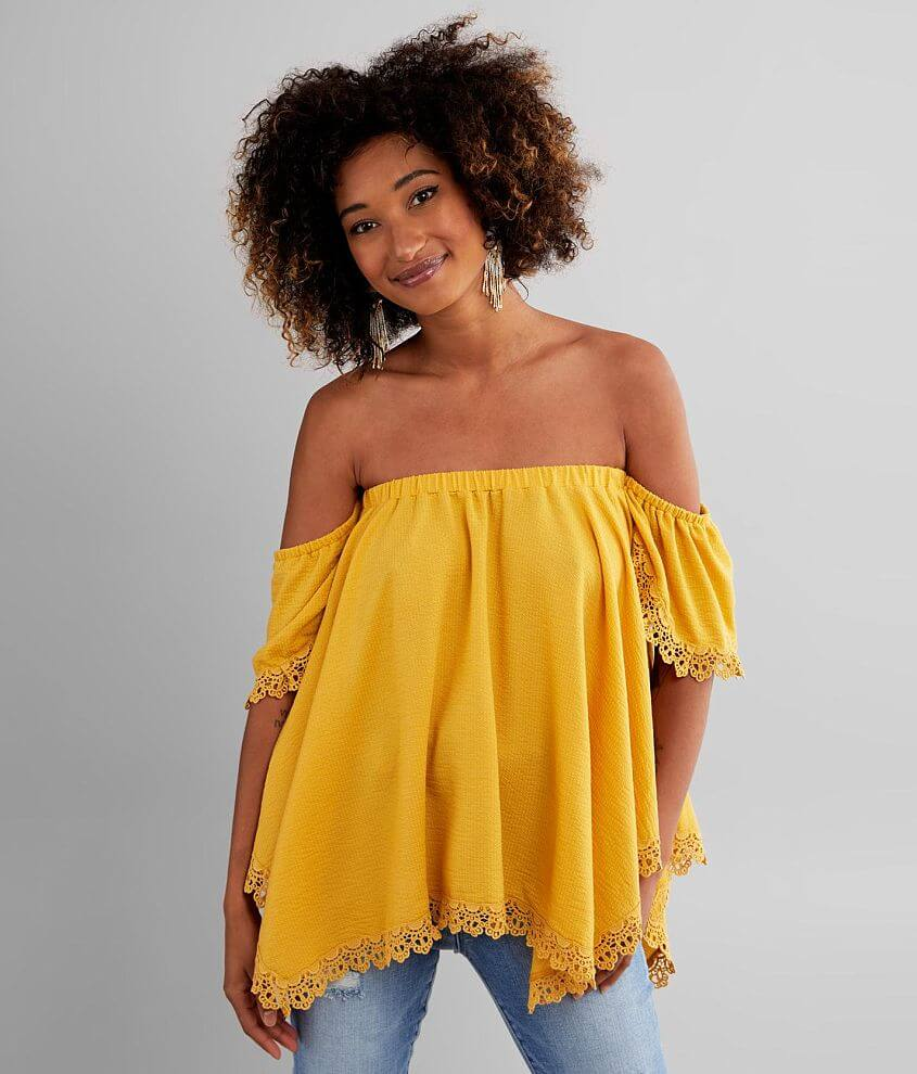 Daytrip Off The Shoulder Top front view