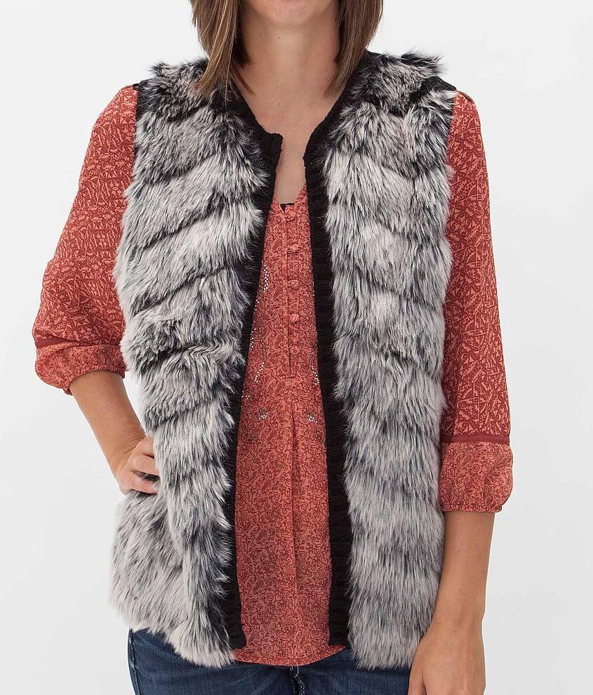 Daytrip Faux Fur Vest front view