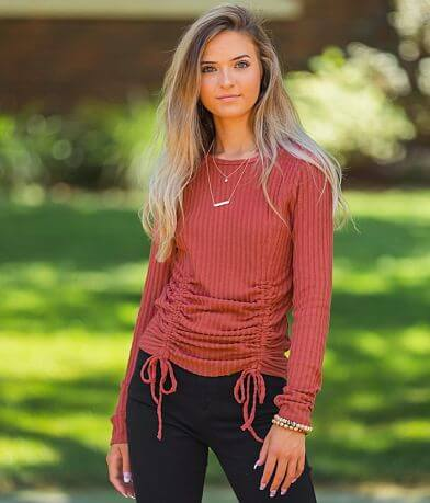 Willow & Root Ribbed Knit Top