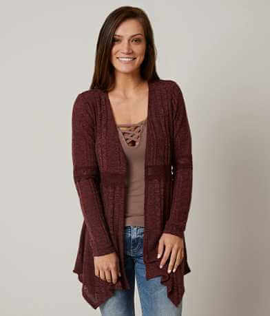 Daytrip Lace Inset Cardigan Sweater