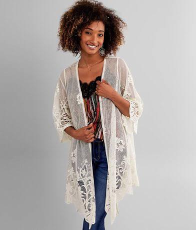 Daytrip Mesh Lace Kimono