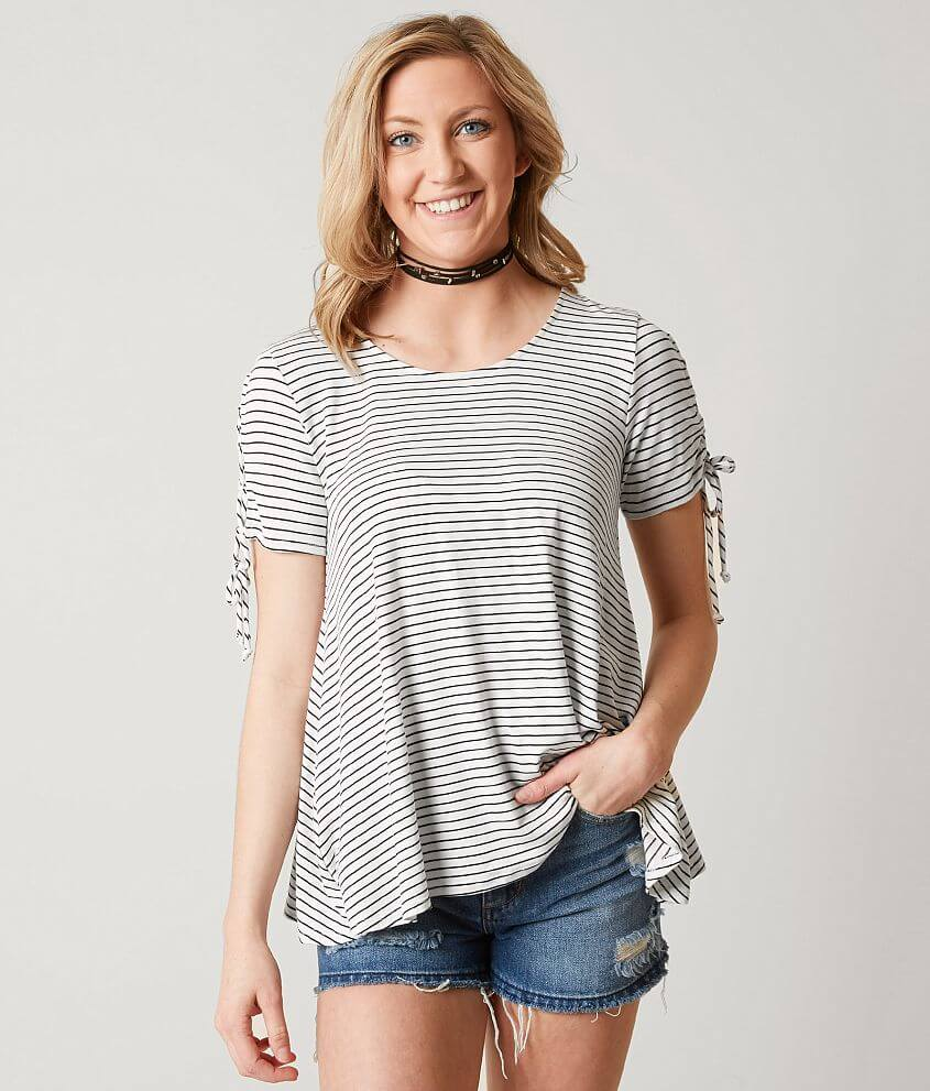 65868527b52 Daytrip Striped Top - Women's Shirts/Blouses in White Black | Buckle