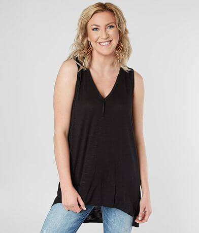 Daytrip Raw Edge V-Neck Tank Top