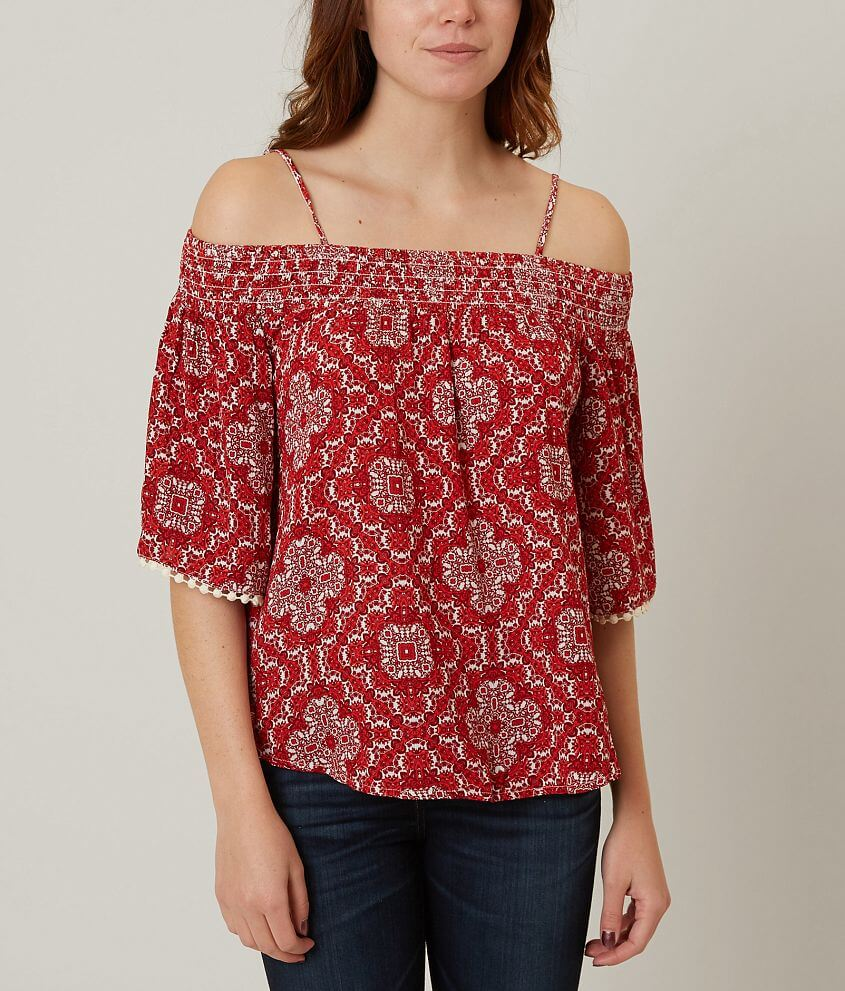 Eyeshadow Printed Top front view