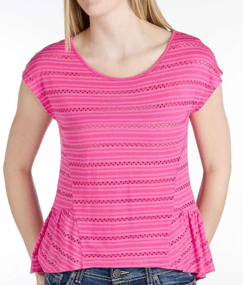 Eyeshadow Striped Top front view
