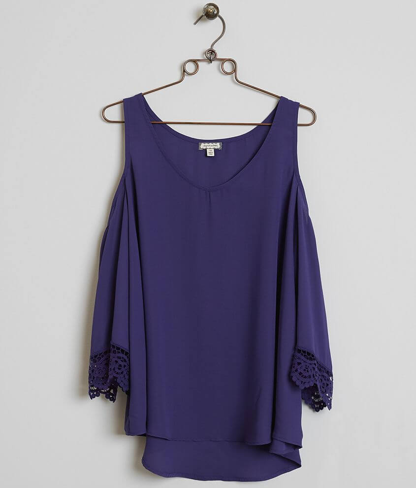 Eyeshadow Chiffon Top - Plus Size Only front view
