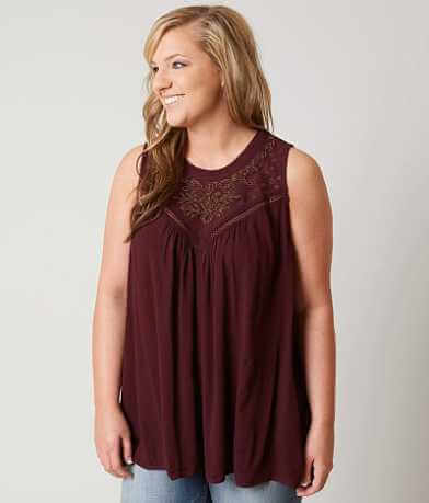 Daytrip Beaded Tank Top - Plus Size Only