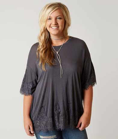 Daytrip Eyelash Lace Top - Plus Size Only