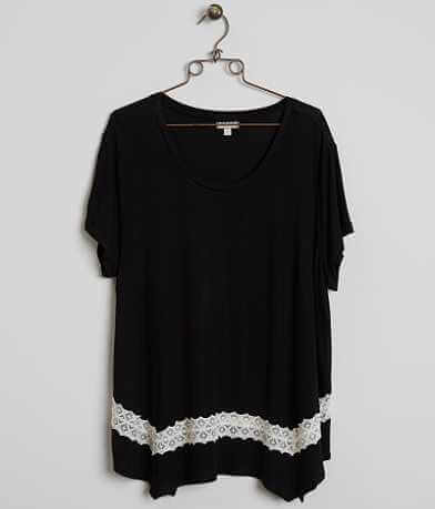 Eyeshadow Scoop Neck Top - Plus Size Only