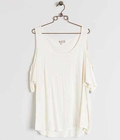 Eyeshadow Cold Shoulder Top - Plus Size Only