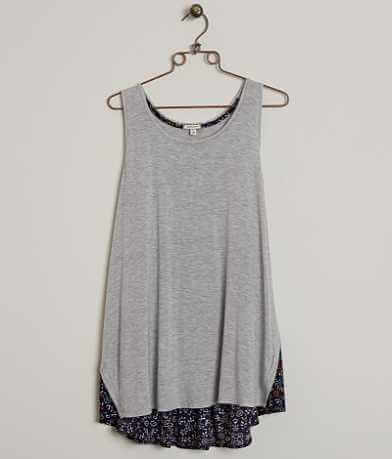 Eyeshadow Pieced Tank Top - Plus Size Only