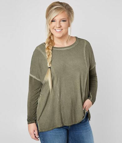 Daytrip Washed Top - Plus Size Only