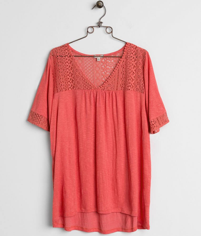 Eyeshadow Crochet Top - Plus Size Only front view