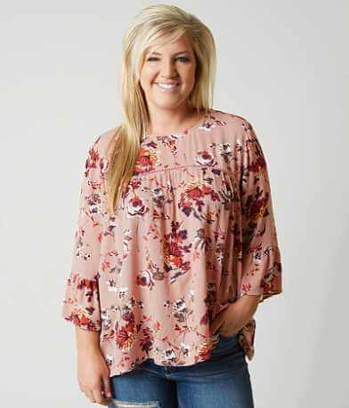 Eyeshadow Floral Top - Plus Size Only