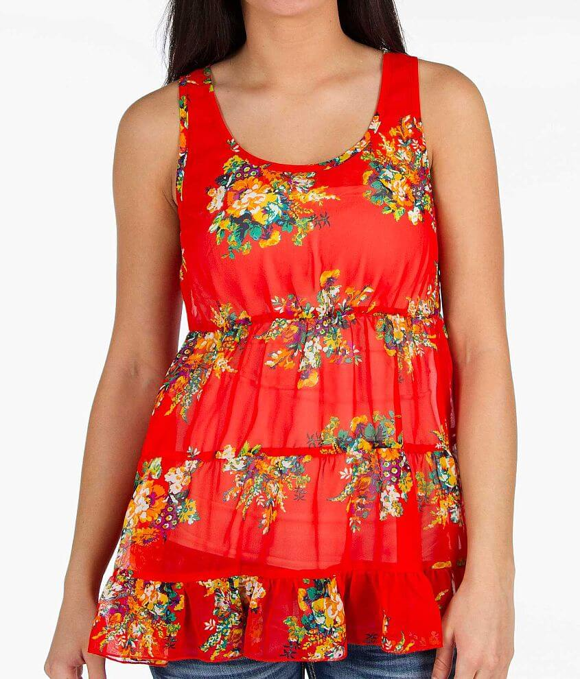 Daytrip Floral Tank Top front view