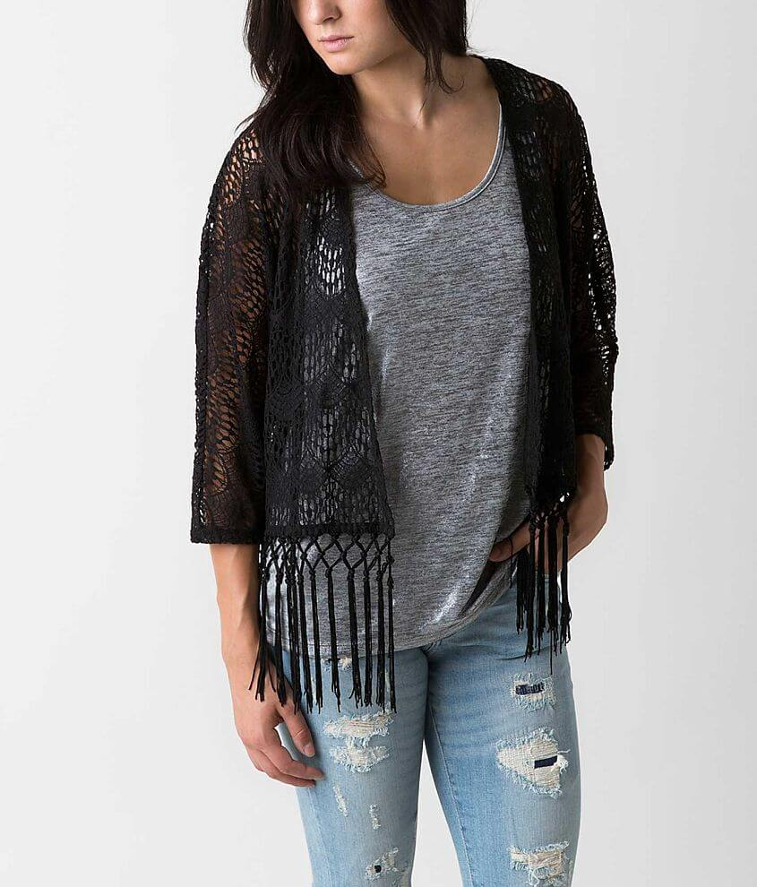 Eyeshadow Lace Cardigan front view