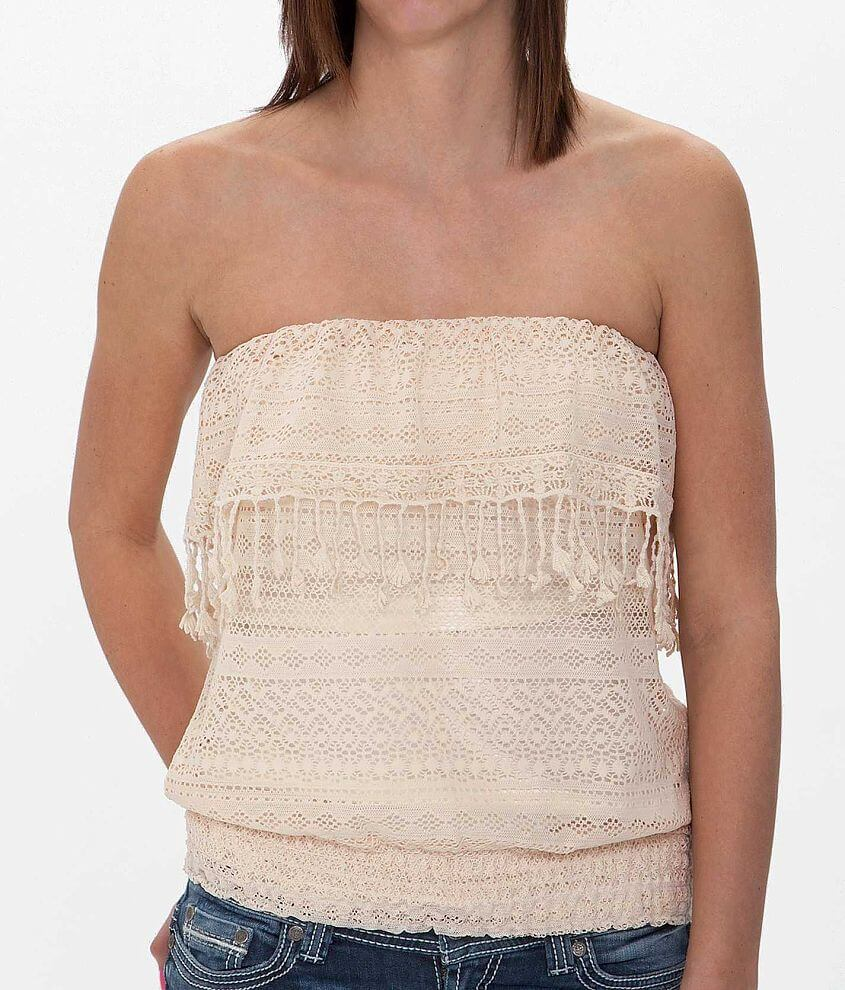 Eyeshadow Lace Tube Top front view