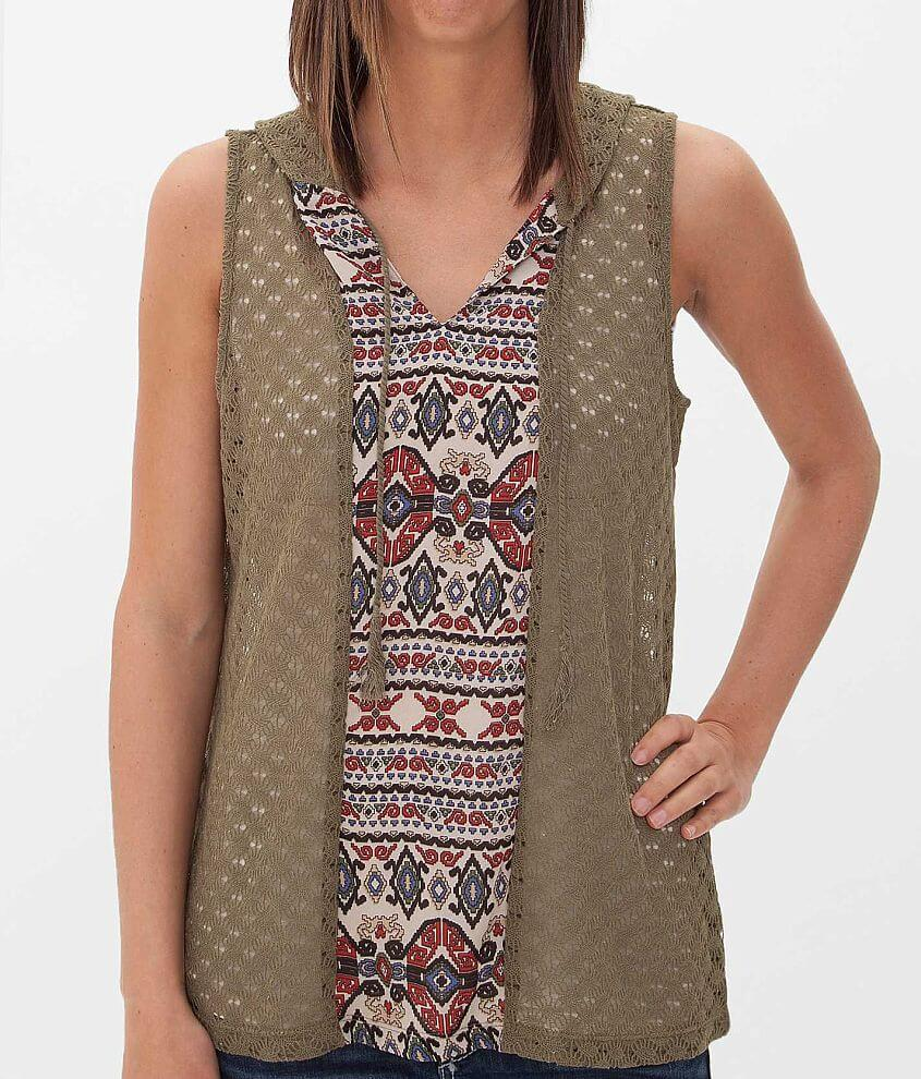 Daytrip Open Weave Tank Top front view