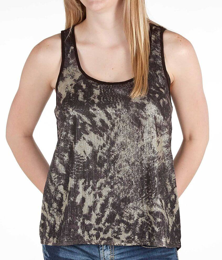 Daytrip Sequin Tank Top front view