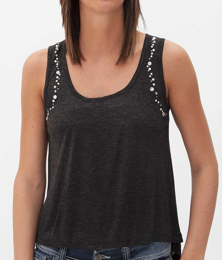 Eyeshadow Embellished Tank Top front view
