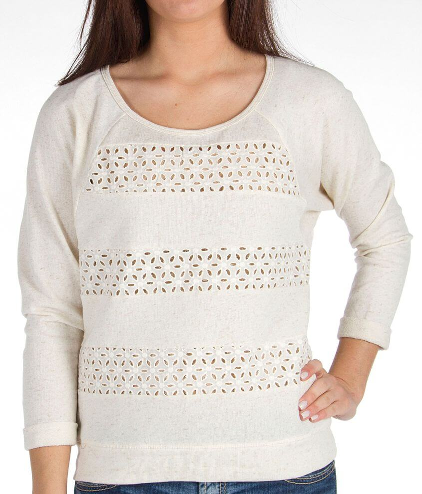 Eyeshadow French Terry Sweatshirt front view