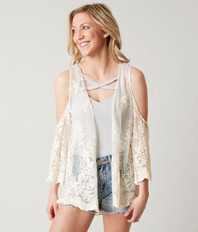 Eyeshadow Cold Shoulder Cardigan