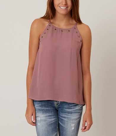 Eyeshadow Chiffon Tank Top