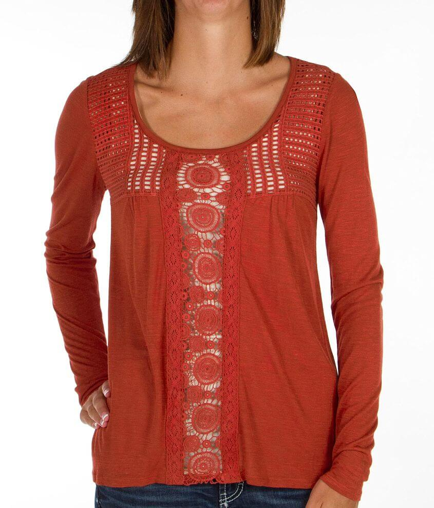 Daytrip Crochet Inset Top front view