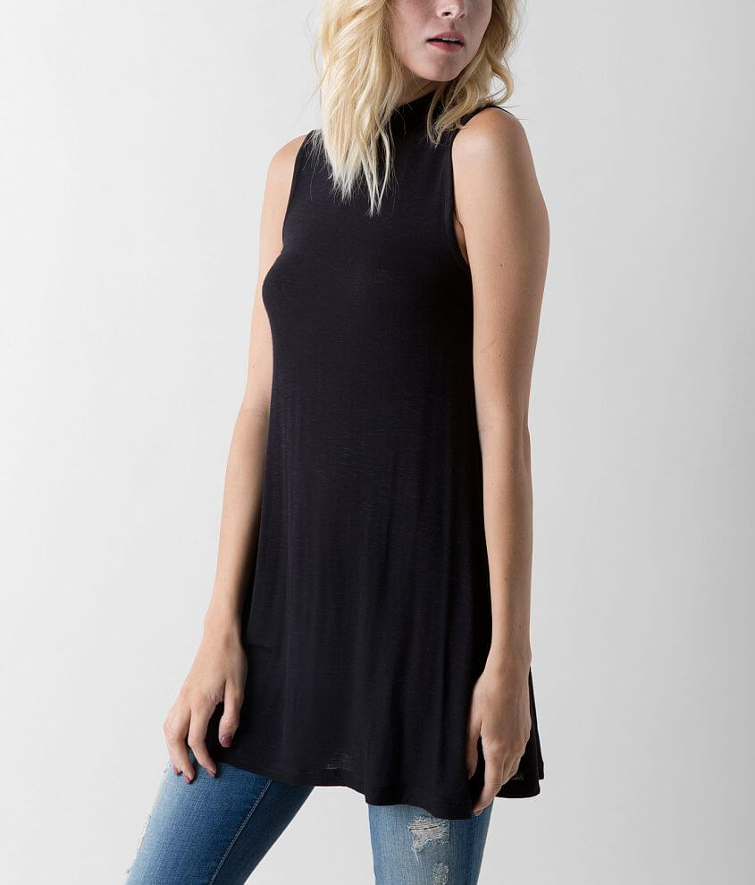Eyeshadow Solid Tunic Tank Top front view