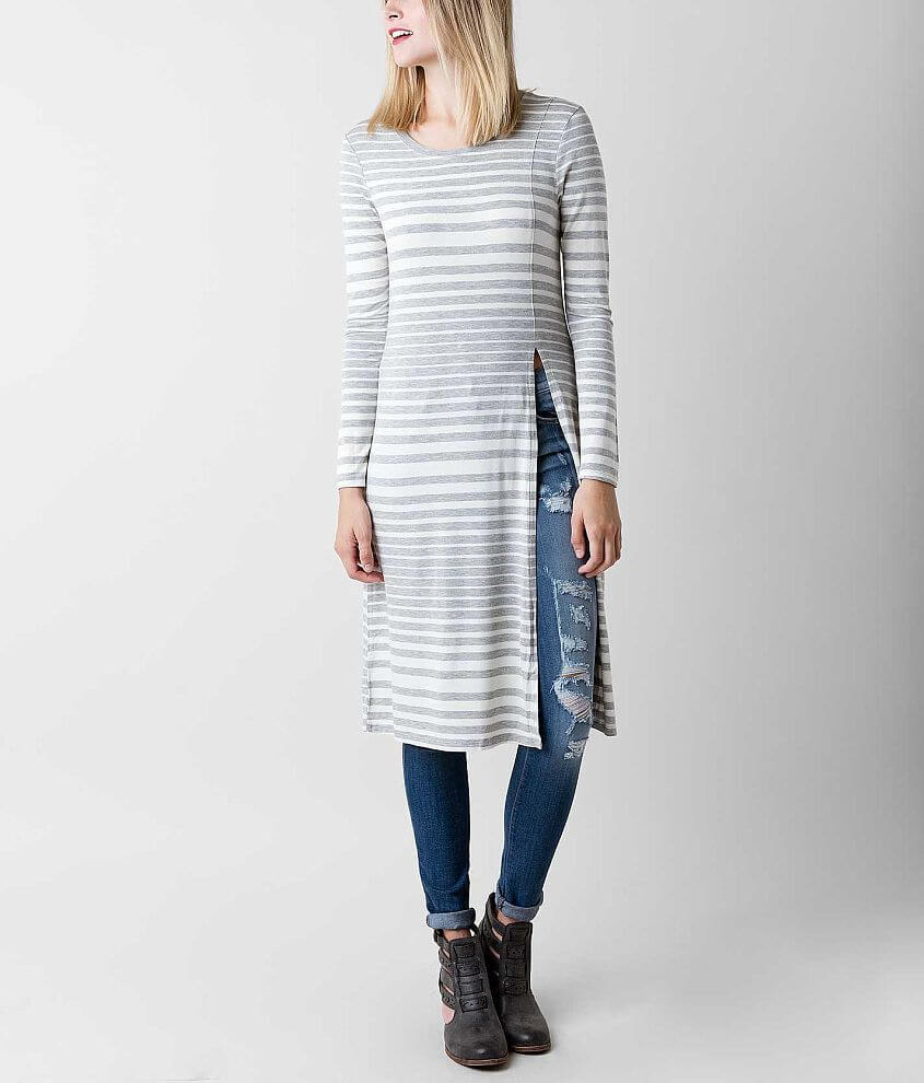 Eyeshadow Striped Maxi Top front view