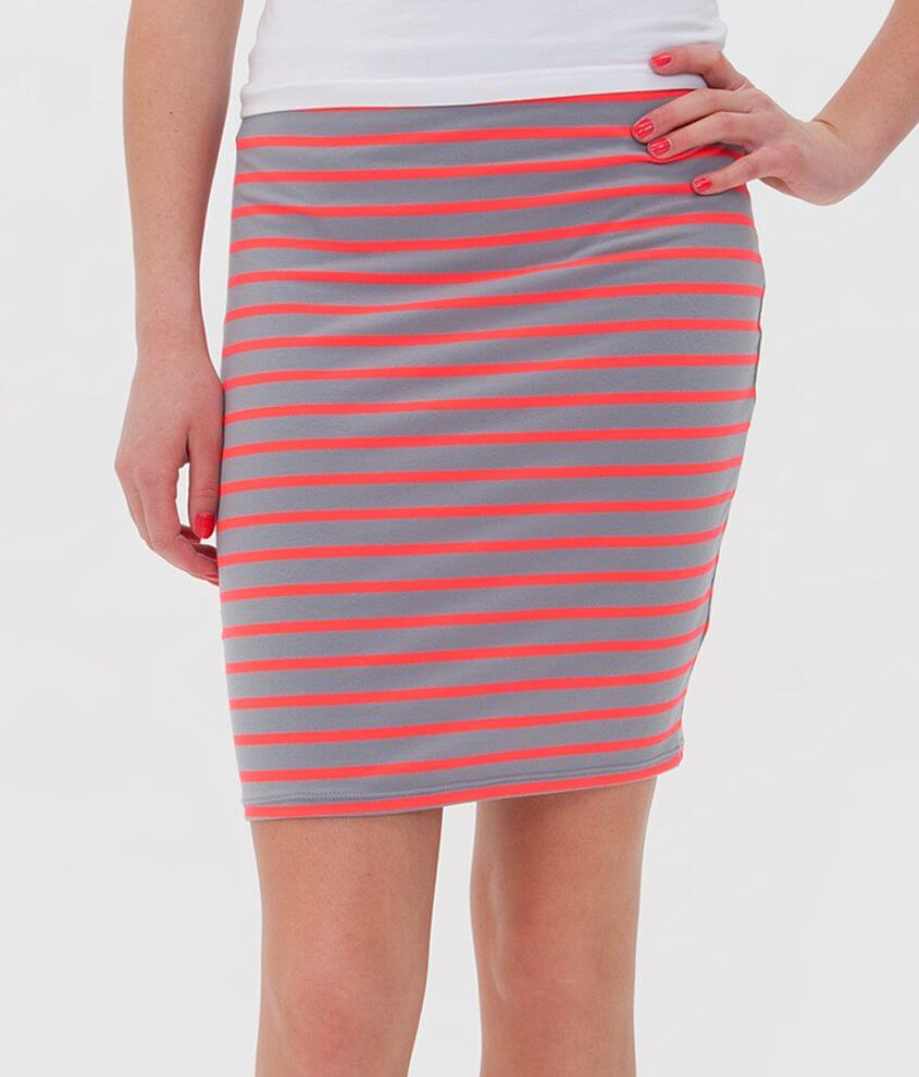 Eyeshadow Striped Skirt front view