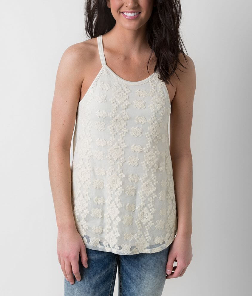 Eyeshadow Embroidered Tank Top front view