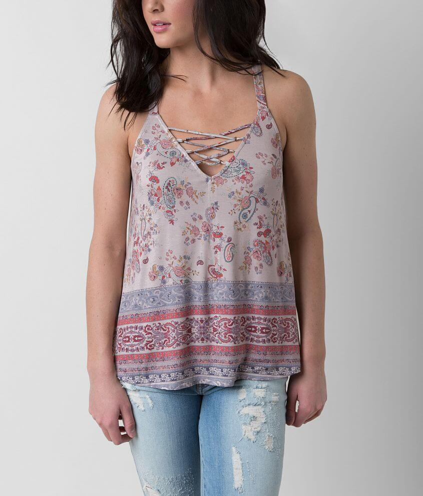 Daytrip Paisley Tank Top front view