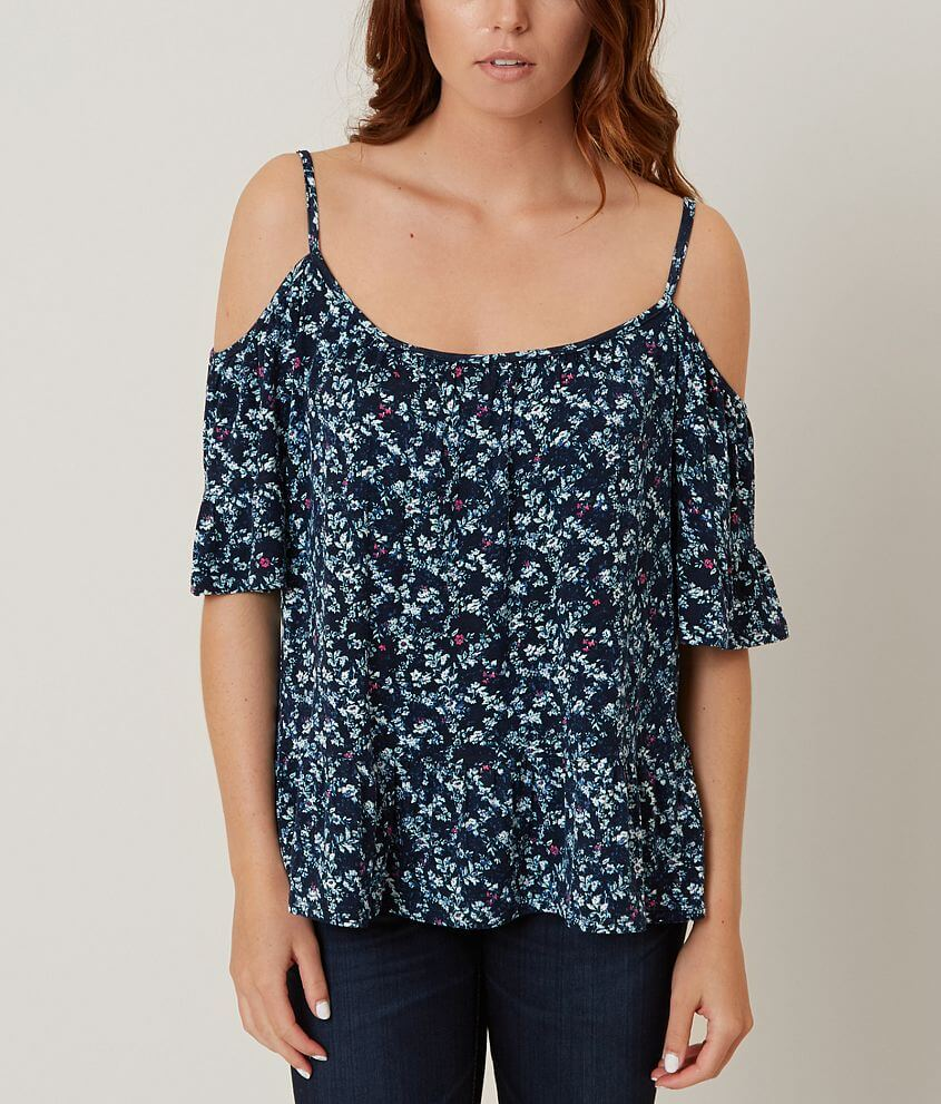 Eyeshadow Floral Top front view