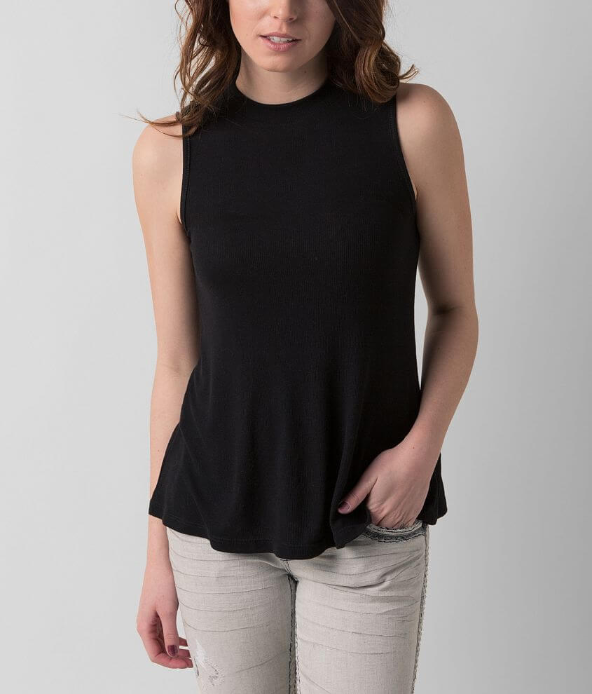 Eyeshadow Ribbed Top front view