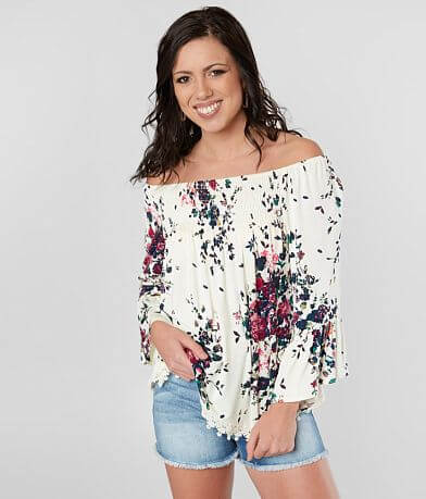 Eyeshadow Off The Shoulder Top