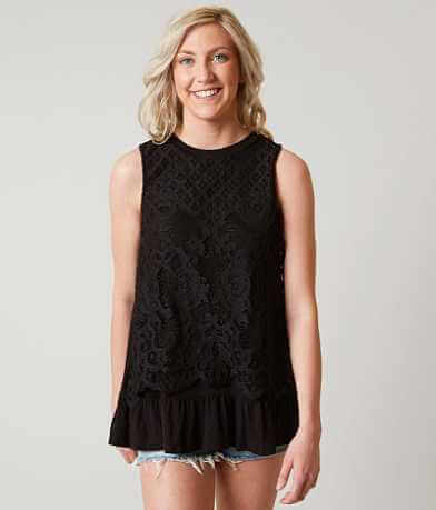 Eyeshadow Lace Overlay Tank Top