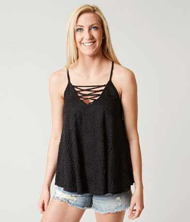 Eyeshadow Slub Fabric Tank Top