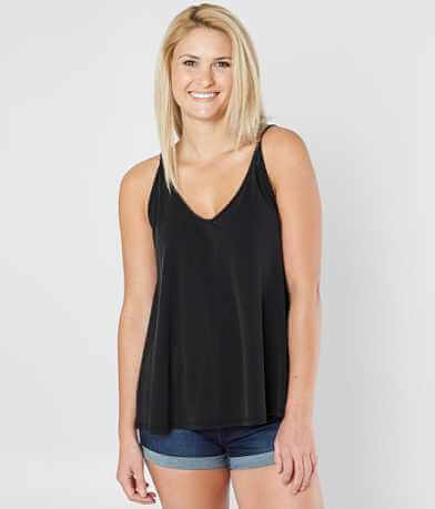 Eyeshadow Solid V-Neck Tank Top