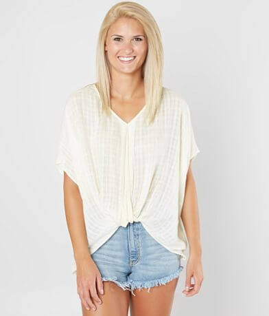 Eyeshadow Twisted Hem Top
