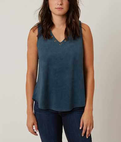 Daytrip Faux Suede Tank Top