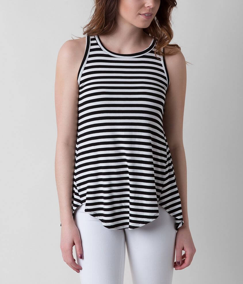 Eyeshadow Striped Tank Top front view