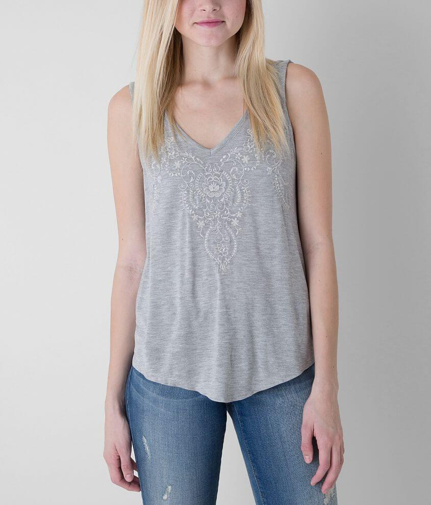 Daytrip Embroidered Tank Top front view