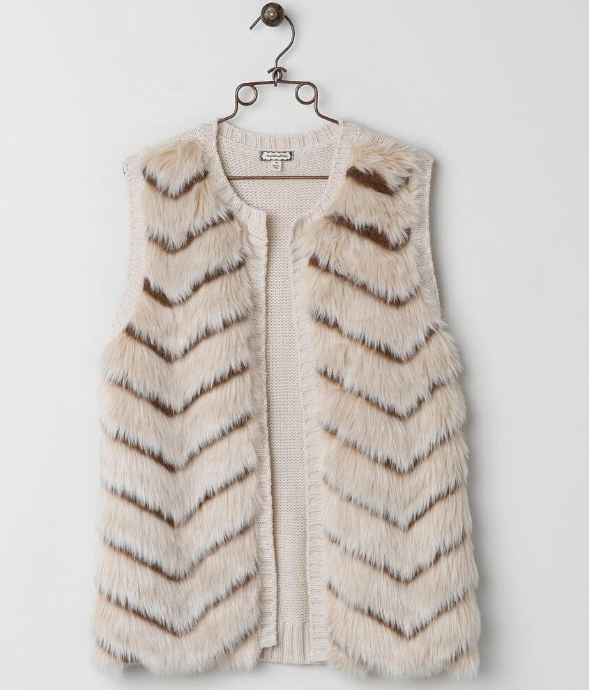 Eyeshadow Faux Fur Vest front view