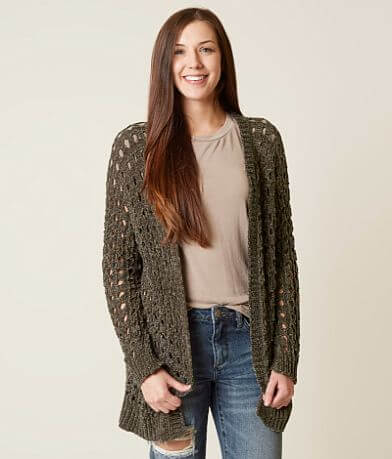 Daytrip Pointelle Cardigan Sweater
