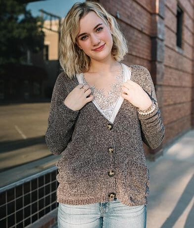 Willow & Root Chenille Cardigan Sweater