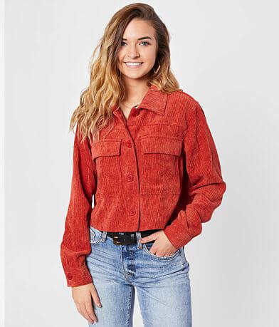Eyeshadow Cropped Corduroy Shirt