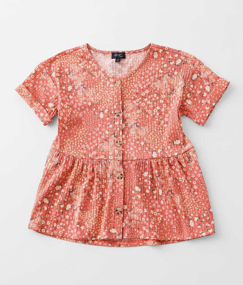Girls - Daytrip Floral Babydoll Top front view