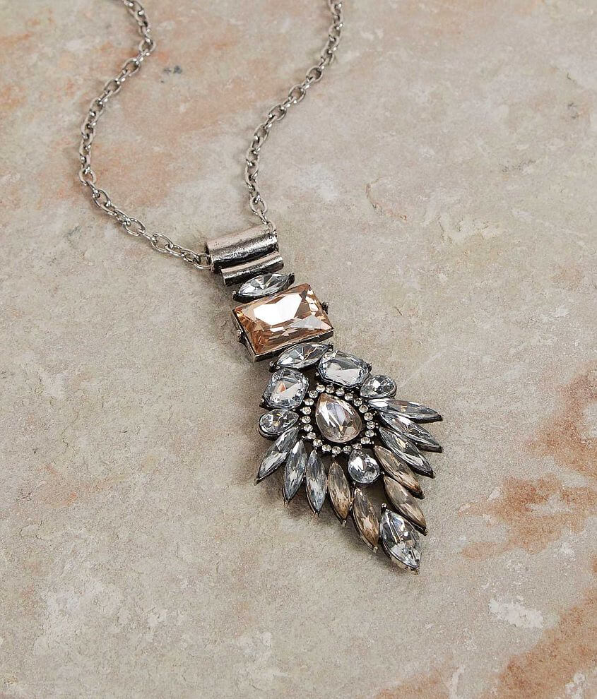 BKE Rhinestone Necklace front view